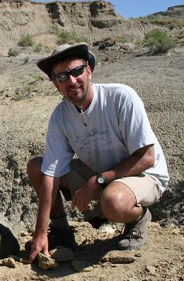Prospecting for fossils in Montana. 2008