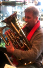 Played euphonium in several bands and combos.