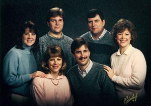 Sibs 20 years later. Clockwise from left: Wendy, Payton, Steve, Nancy, Greg, Ann