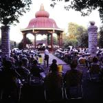 Band Stand and Compton Heights Concert Band in Tower Grove Park