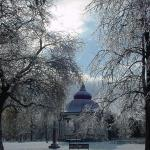 Gazebo in Winter. Tower Grove Park