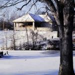 Pavilion in Winter. Bellevue Park in Belleville IL